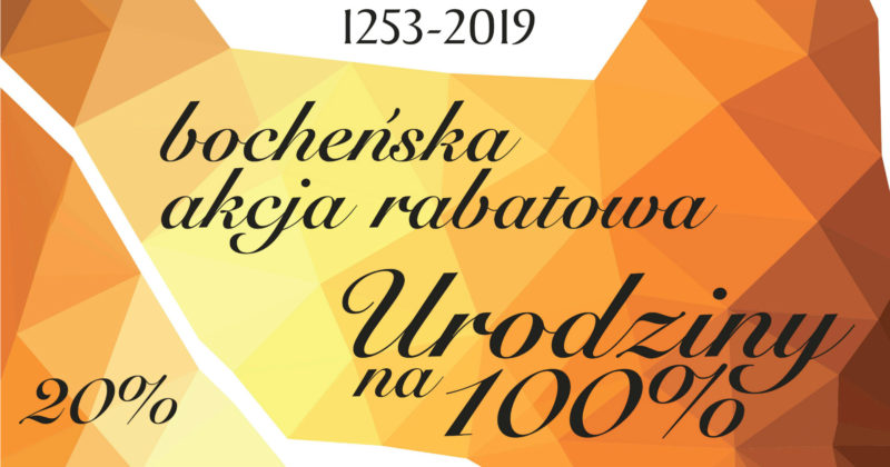 """Bocheńska Akcja Rabatowa – """"Urodziny na 100%"""""""