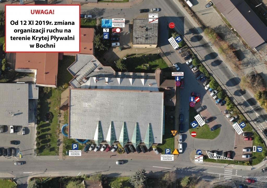 Projekt organizacji ruchu na Krytej Pływalni w Bochni