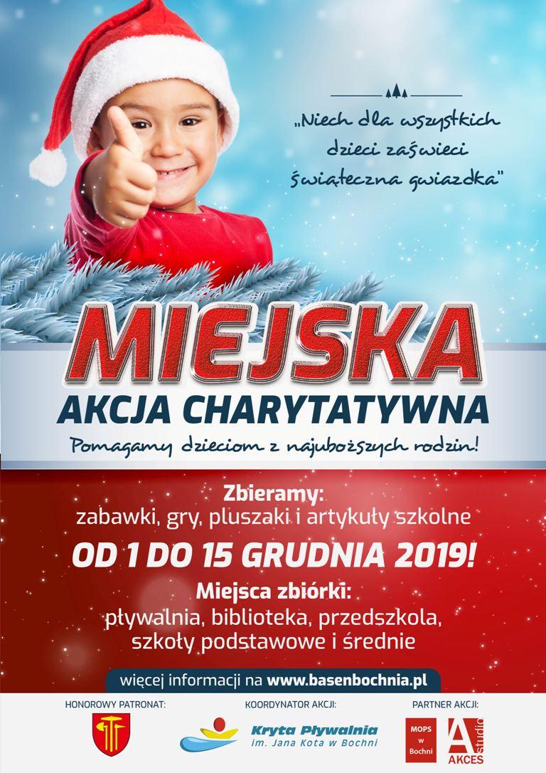 Świąteczna akcja charytatywna - plakat - zbiórka trwa od 1 do 15 grudnia 2019 roku