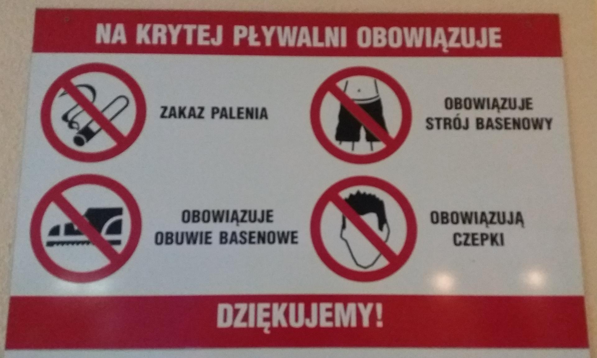 Uwaga na punkt 13 Regulaminu Pływalni