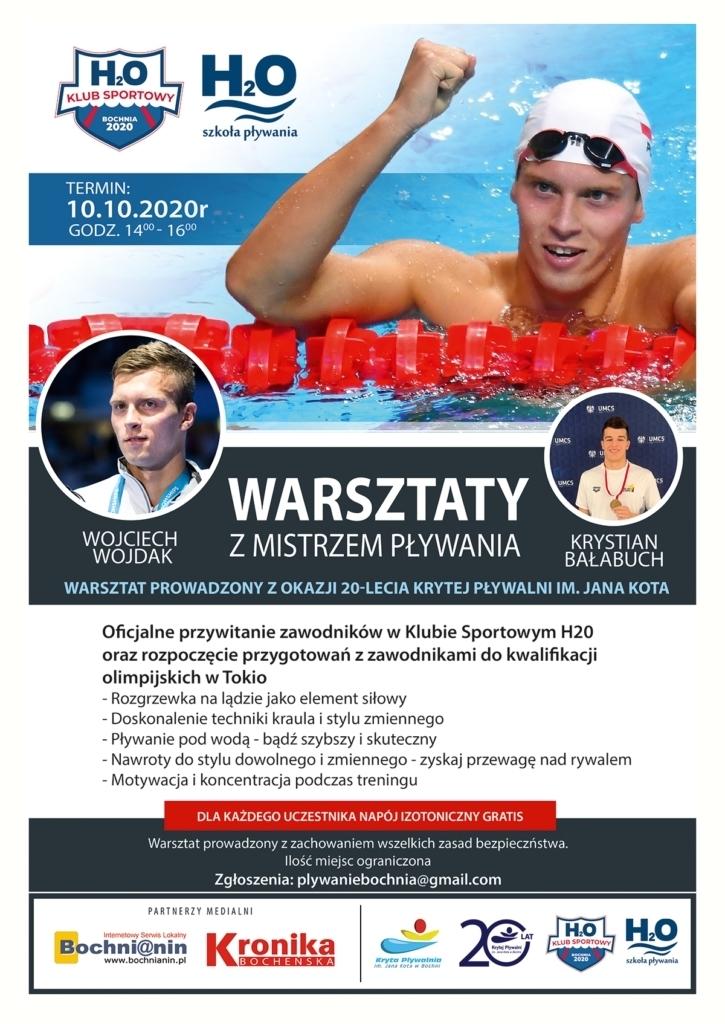 Warsztaty z Wojtkiem Wojdakiem i Krystianem Bałabuchem z okazji 20.lecia pływalni w Bochni
