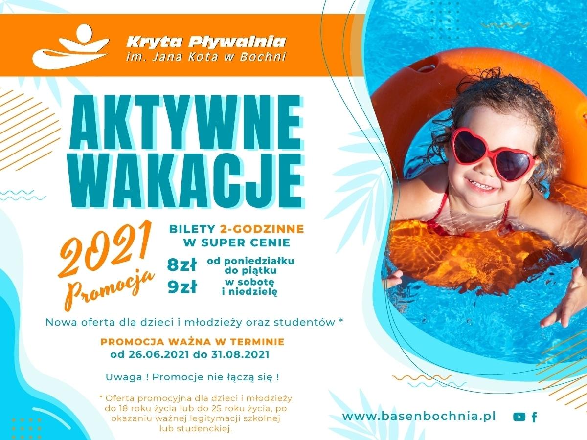 Aktywne wakacje 2021 na pływalni