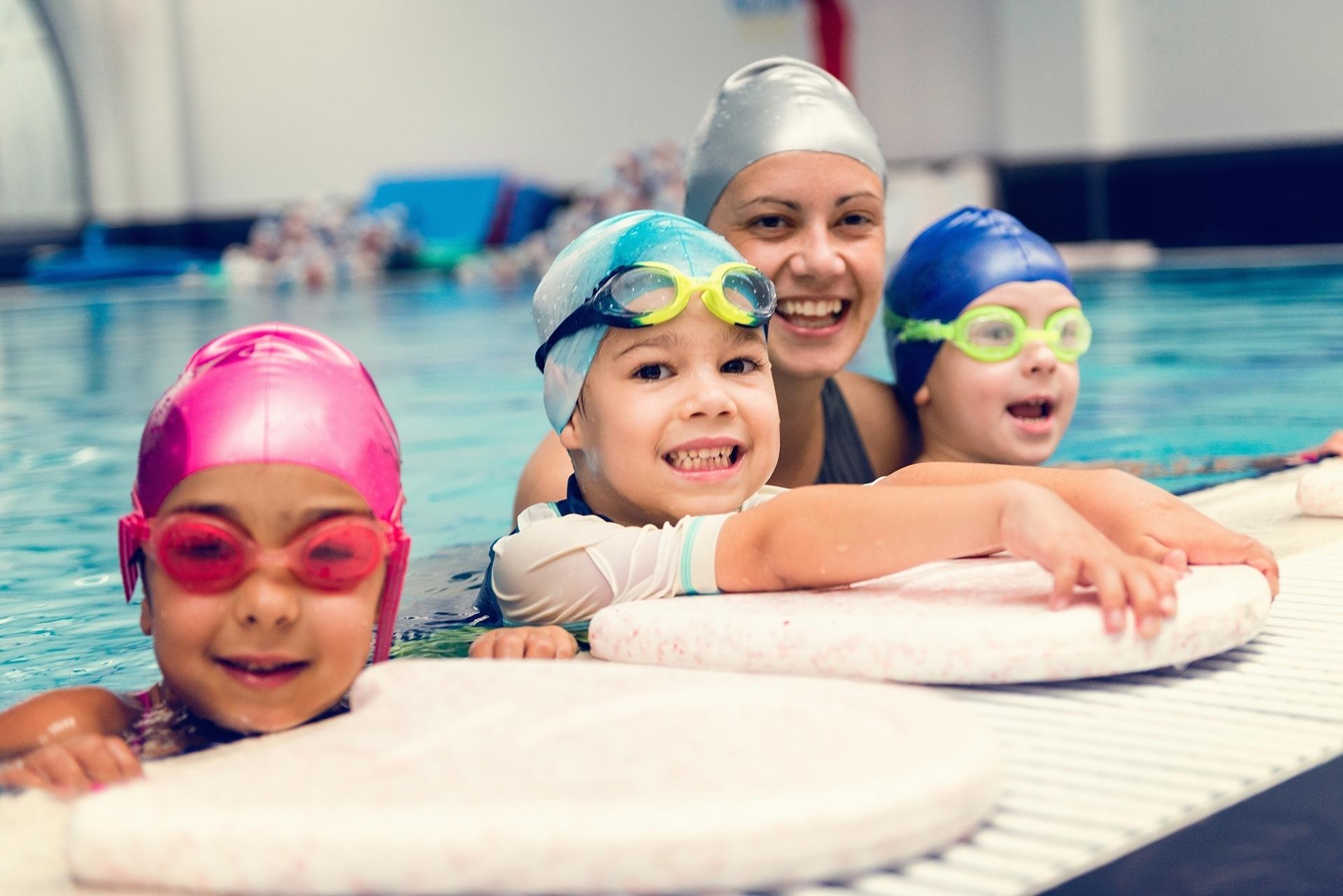 Nauka pływania na bocheńskiej pływalni